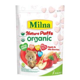 Milna NAture Puff Organik camilan baru untuk Si Kecil