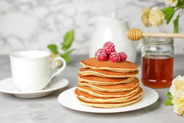 sarapan diet dengan pancake dari bahan Slim & Fit