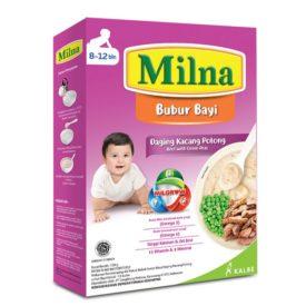 kreasi MPASI dengan Milna Bubur Daging Kacang Polong