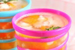 kreasi minuman teh dengan jelly susu Chil Go
