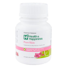 Vitamin kecantikan H2 Pure Skin untuk kulit berjerawat