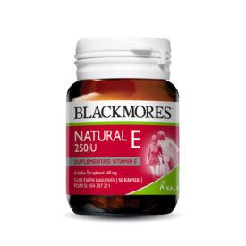 Blackmores Natural E 250 iu untuk menghilangkan stretch mark